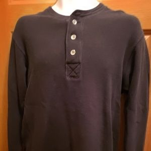 Old Navy Black Long Sleeve Henley-Size M